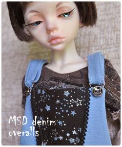 MSD denim overalls