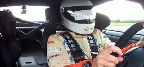 Слепой водитель проехал на рекордной скорости
