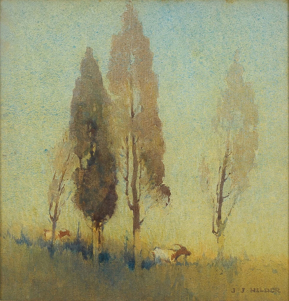 J. J. Hilder - Trees on a Hilltop.jpeg