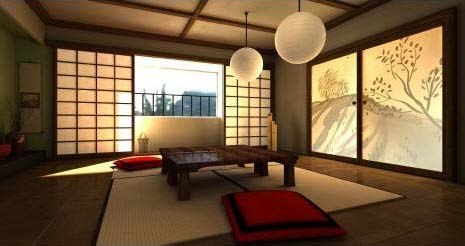Дизайн интерьера в стиле японском