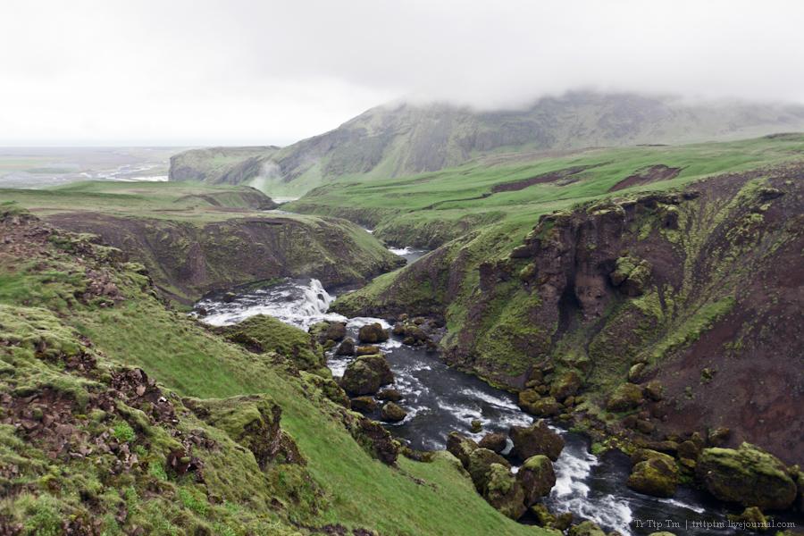 20. Ледники и водопады Эйяфьядлайокудля.