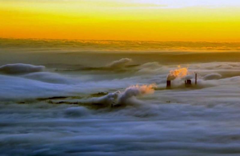 испания туман город