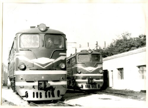 Тепловозы 2ТЭ10Л в локомотивном депо Петропавловск, 1983.jpg