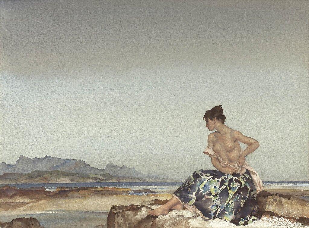 Sir William Russell Flint - The Bay of dreams - 28280-20.jpg