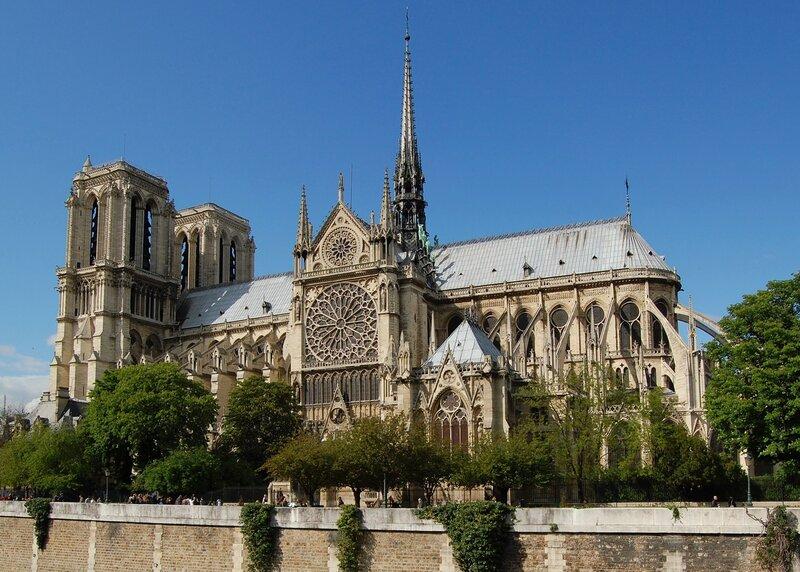 Façade sud de Notre-Dame de Paris