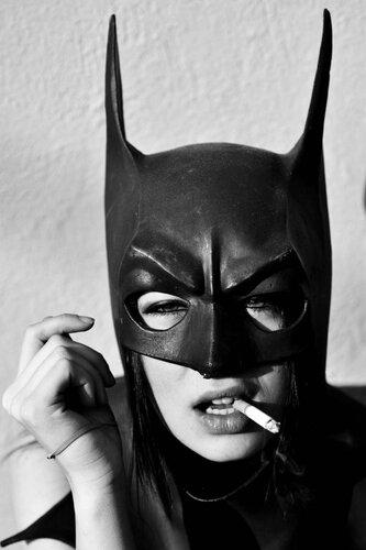 Beautiful Smoking Batgirl