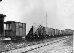 Поезд императрицы Александры Федоровны перед отправкой в действующую армию