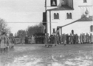Император Николай II  на празднике полка у Федоровского собора иконы Божией Матери.
