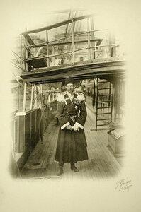 Великий князь  Сергей на палубе судна