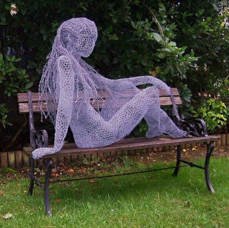 Как сделать парковую скульптуру
