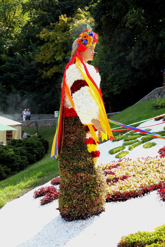 Выставка цветов к Дню Незалежности