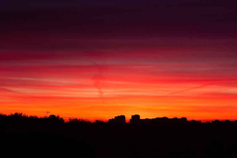 Закат над Лобней