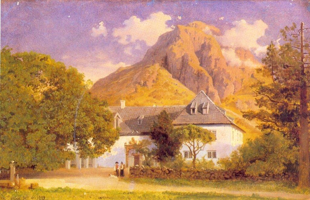 Hans Gude--Baroniet Rosendal--1849..jpg