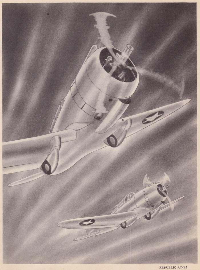 Republic AT-12 - учебно-тренировочные самолеты