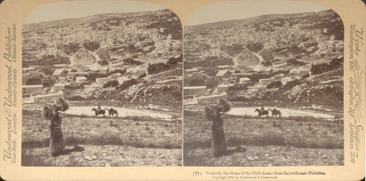 Назарет. Вид с северо-востока. 1900