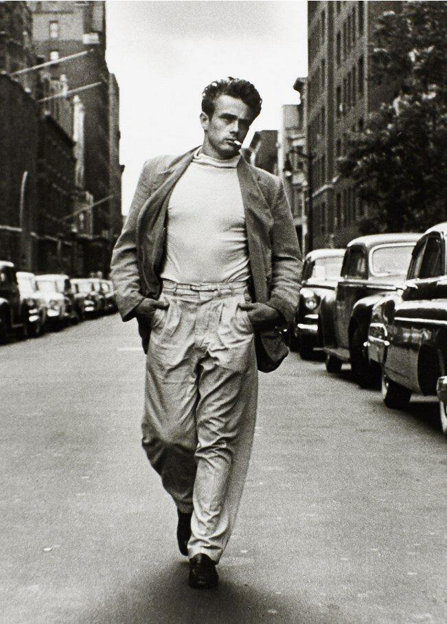 1954. Джеймс Дин, прогулка по 68 улице, Нью-Йорк