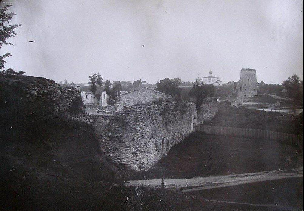 1926. Крепостная стена от Луковой горки до Гремячей.