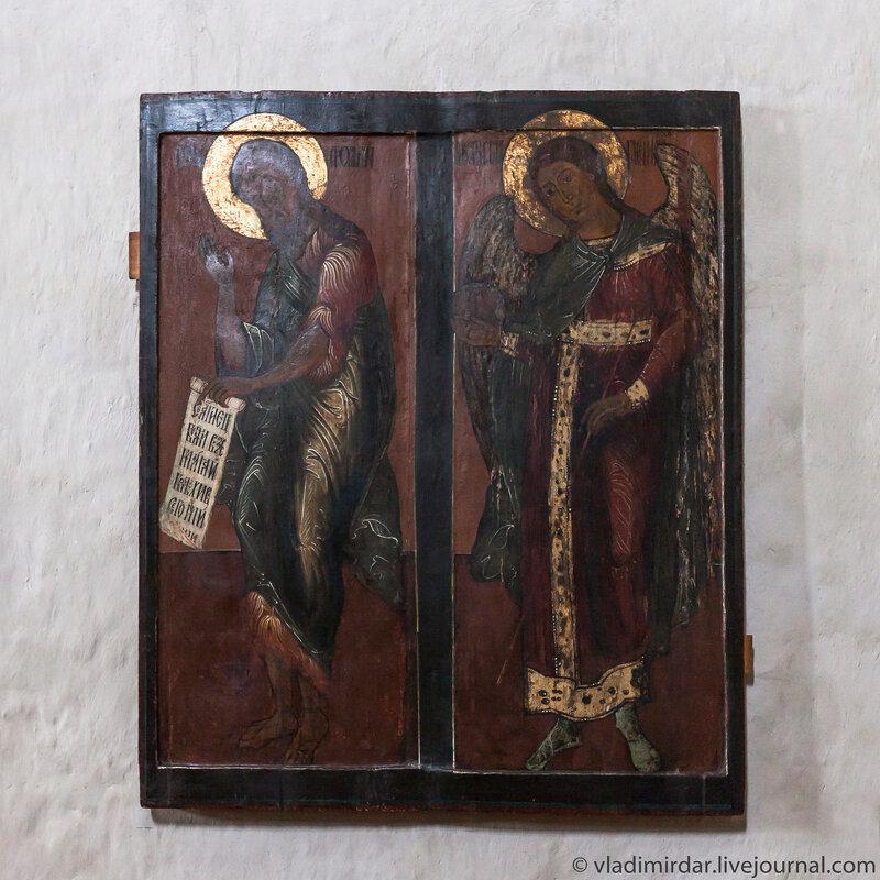 Икона Иоанн Креститель и Архангел Михаил