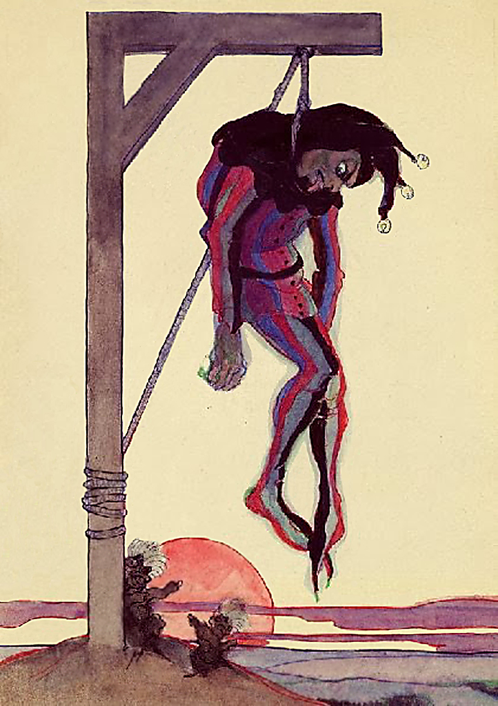 Jeanne Mammen, Der Narr am Galgen (The Fool at the Gallows), c. 1910