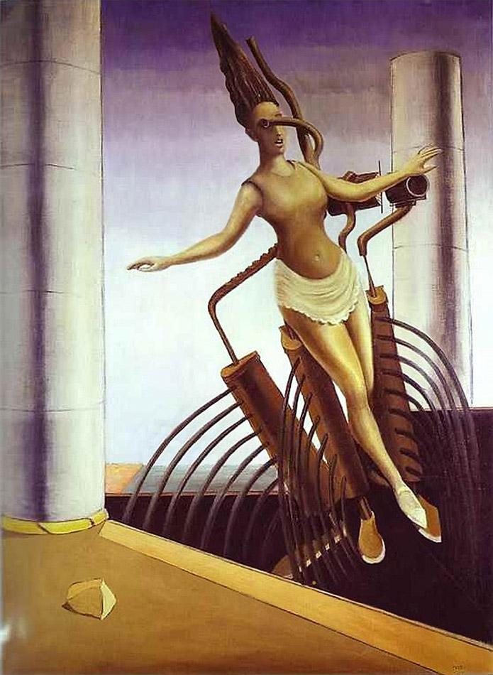 Двусмысленная девушка (также известна как:Балансирующая девушка)1923._Макс Эрнст (1891 — 1976)