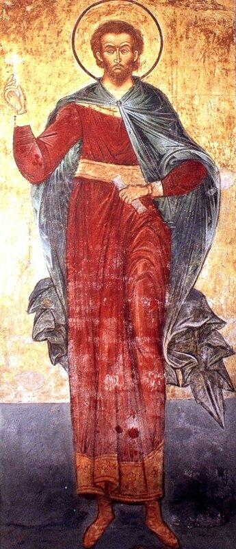 Святой мученик Авраамий Болгарский. 1648 г. Иконописец Марк Матвеев. Княгинин монастырь во Владимире.