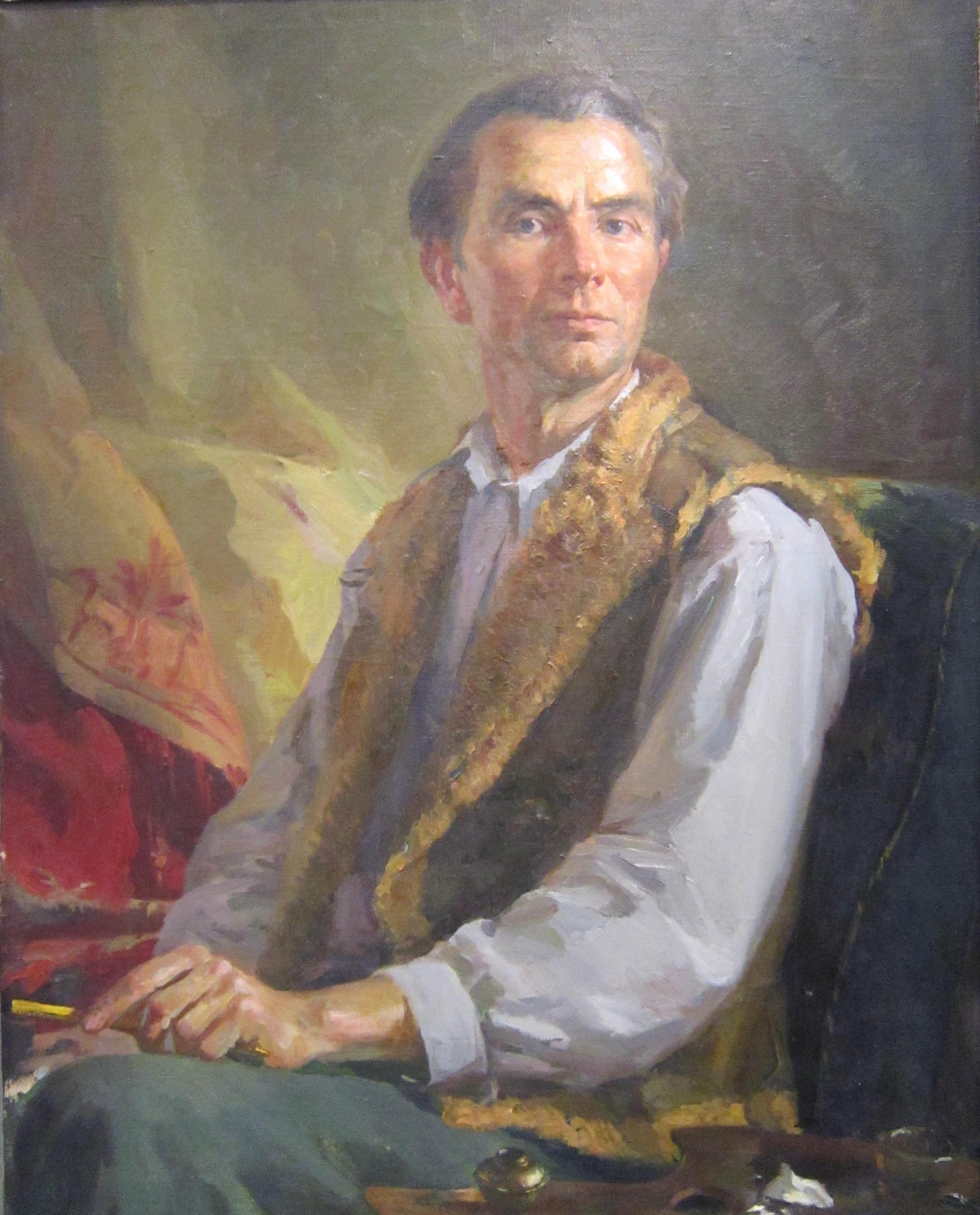 Степан Антонович Сухоруков (1915-1982 гг.). Автопортрет. 1950 год.