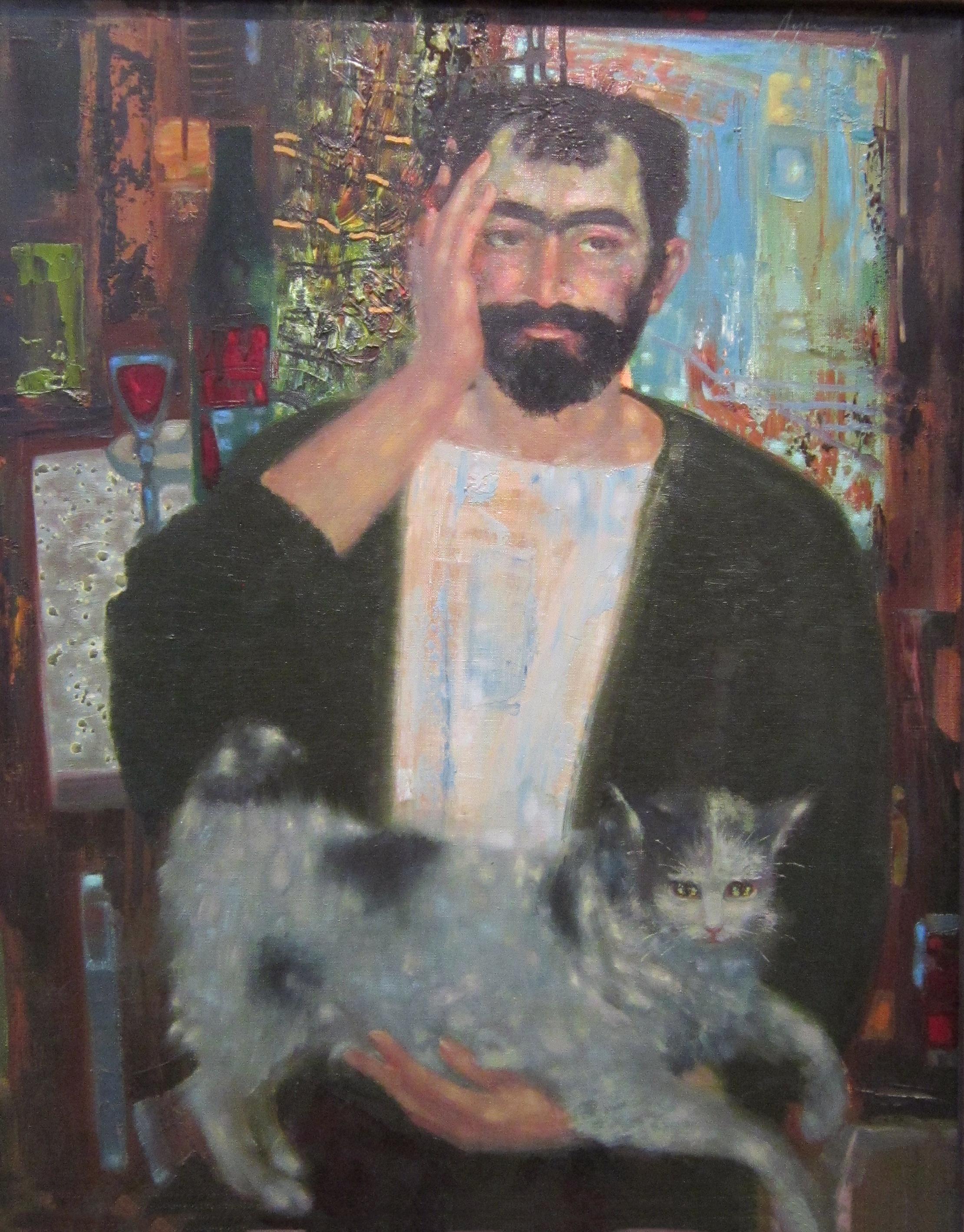 Ованес Мелконович Лусегенов (род. в 1952 году). Автопортрет. 1992 год.
