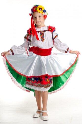 Детский карнавальный костюм стилизованный руский народный с венком