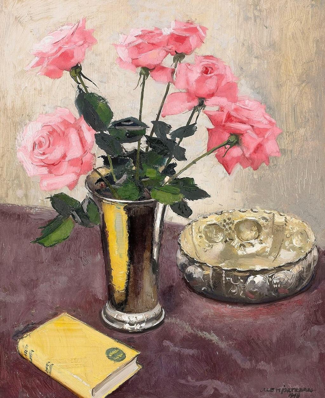 21-1948_Букет роз в серебряном кубке_65 x 54_д.,м._Частное собрание.jpg