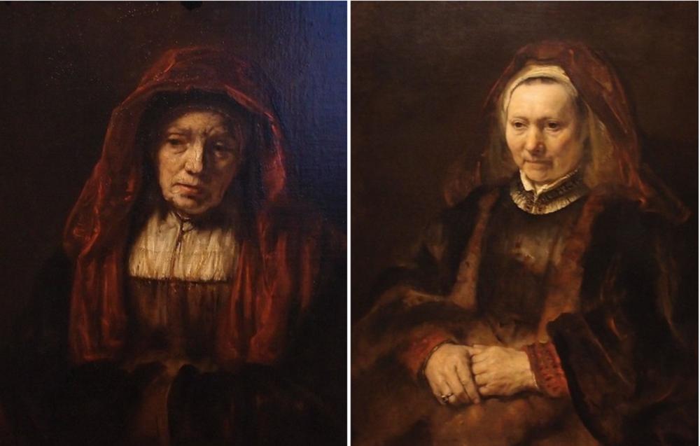 Рембрандт «Портрет старушки» и «Портрет пожилой женщины».