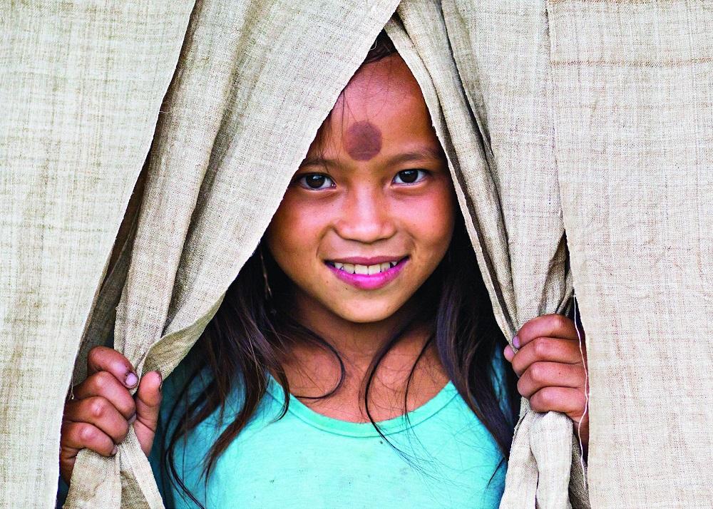 Маленькая жительница деревни Сапа.