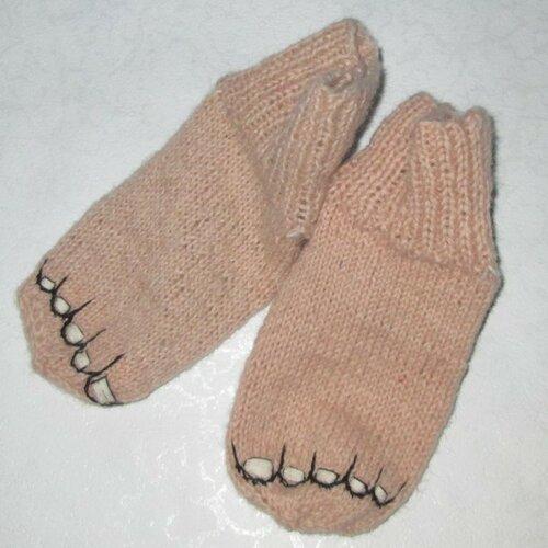 Вязаные носочки «босые ножки»