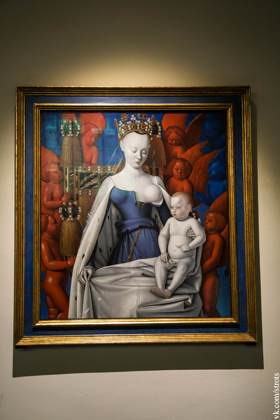Жан Фуке - Богоматерь с младенцем