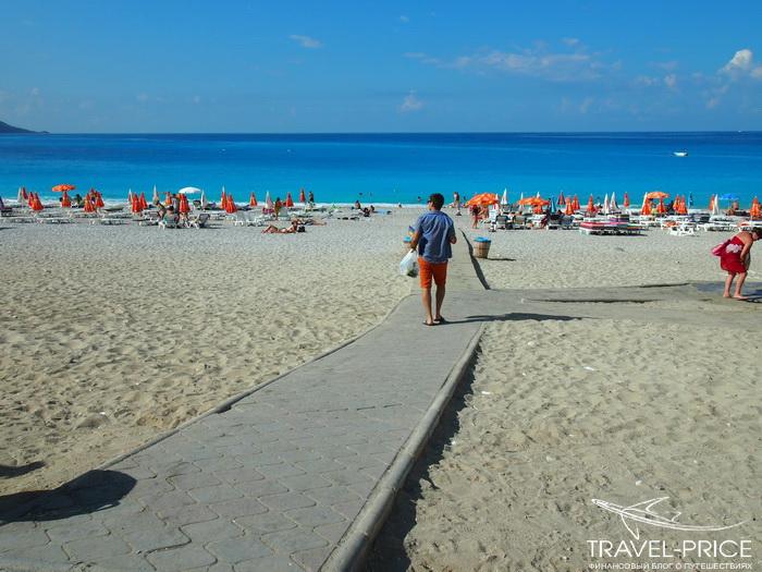 первый взгляд на пляж Олюдениз
