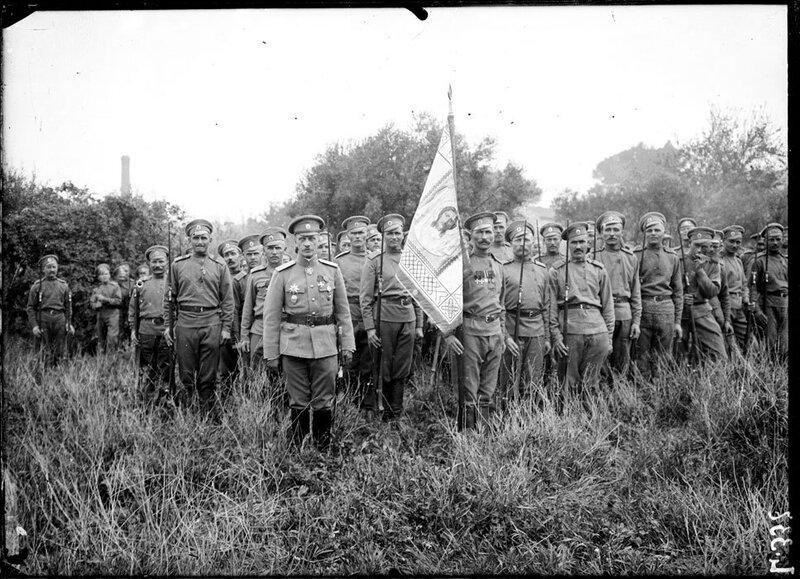 Les soldats russes à Marseille.