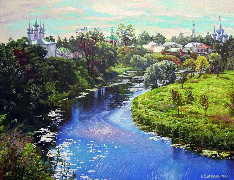 Русские пейзажи художника Александра Самохвалова