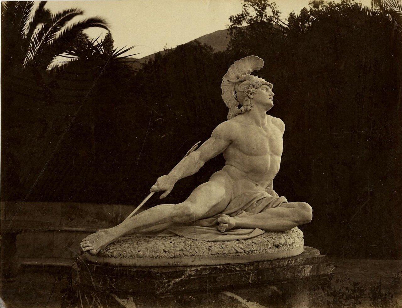 22. Статуя «Умирающий Ахилл» в садах Ахиллиона