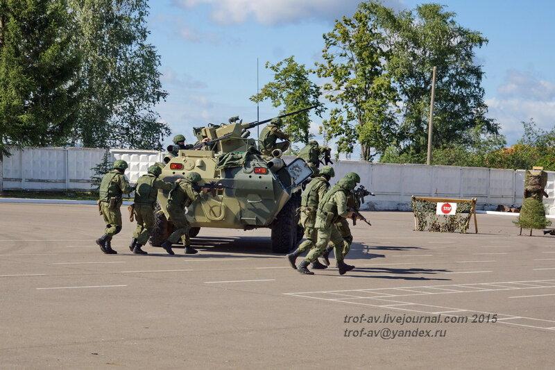 Имитация боя, Празднование 85-летия ВДВ в 45 полку СпН ВДВ (теперь отдельная бригада), Кубинка