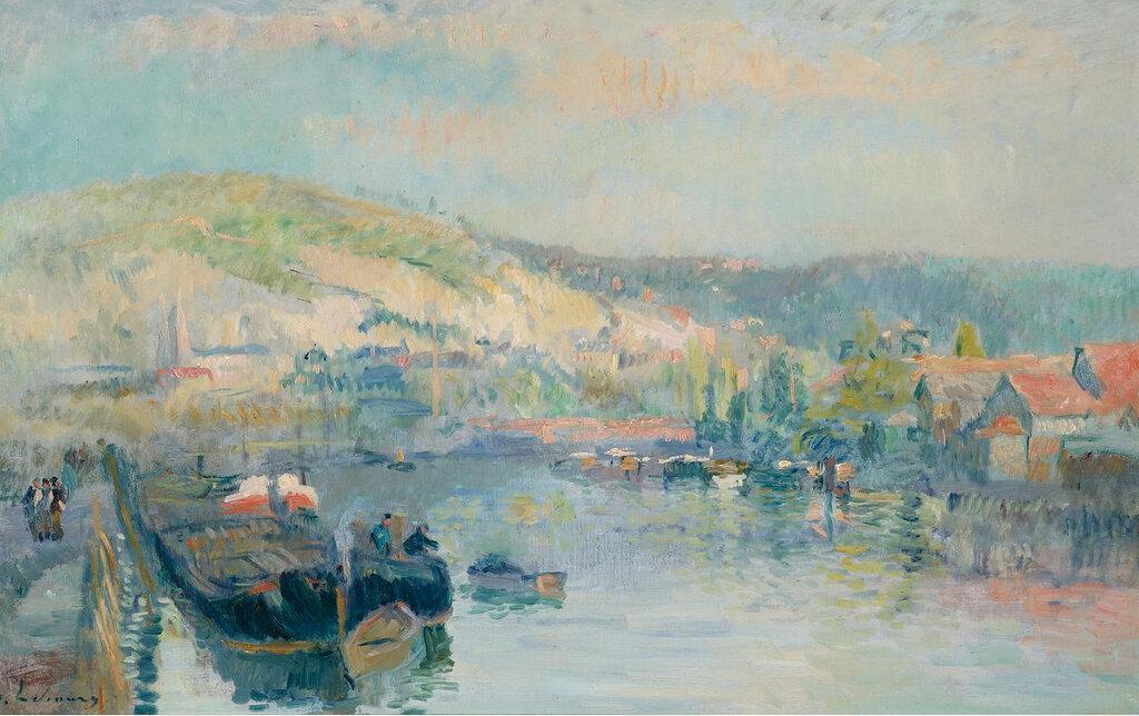 Albert Lebourg - Sailing Boat at the Bank of the Seine near Rouen.jpeg