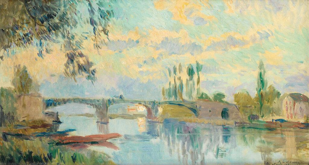 Albert Lebourg - The Bridge of Chatou, 1905.jpeg