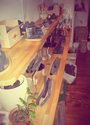 Образцы древесного угля