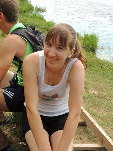 Районный турнир по пляжному волейболу. П. Дубровка, 10 августа 2014 года. У Юли прекрасное настроение!