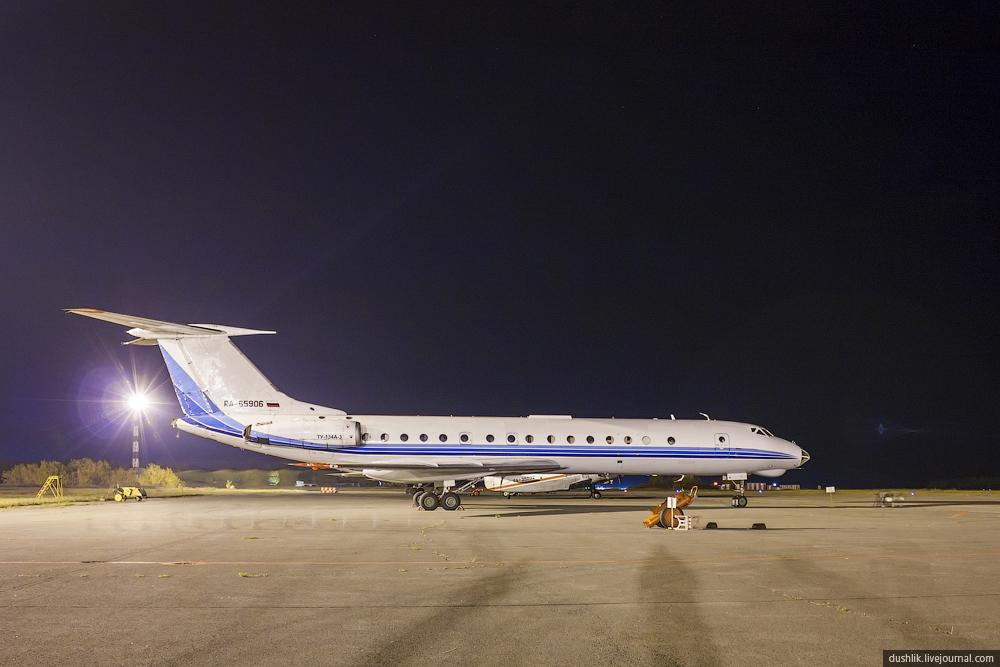 Ночная жизнь аэропорта Челябинск