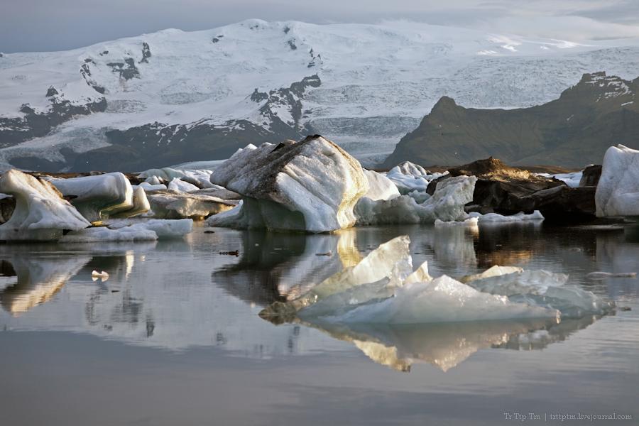 17. Тихий вечер у Ледниковой лагуны.