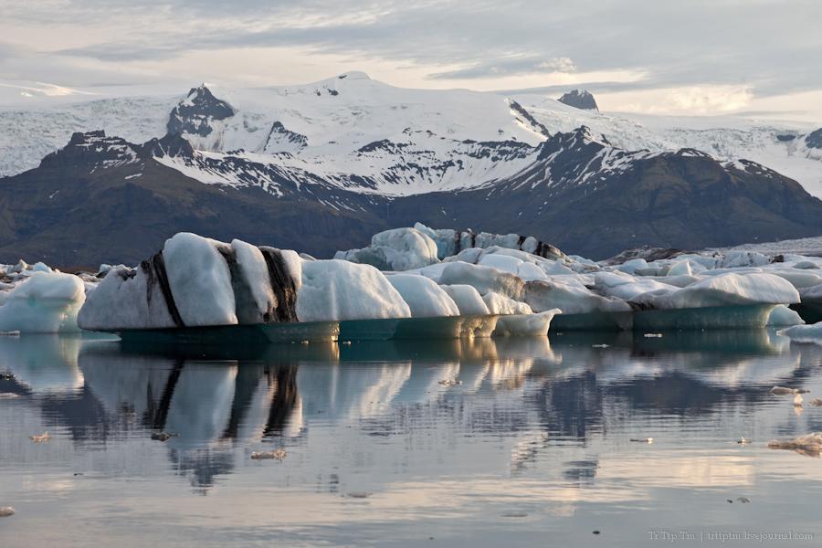 20. Тихий вечер у Ледниковой лагуны.
