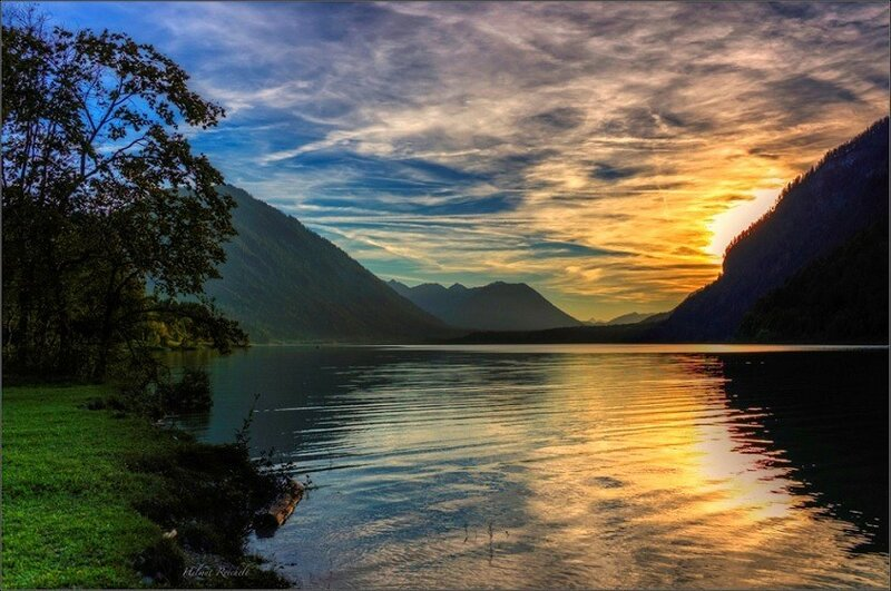 Германия, Бавария, озеро Сильвенштайн, фото