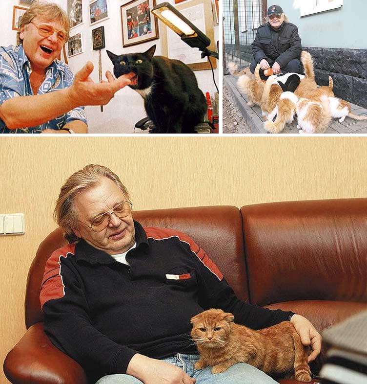 Юрий Антонов с кошкой