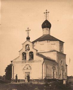 Вид на церковь и колокольню. Московская губерния