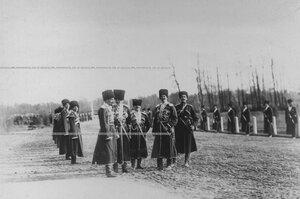 Офицеры конвоя  в день  празднования 100-летнего юбилея конвоя.