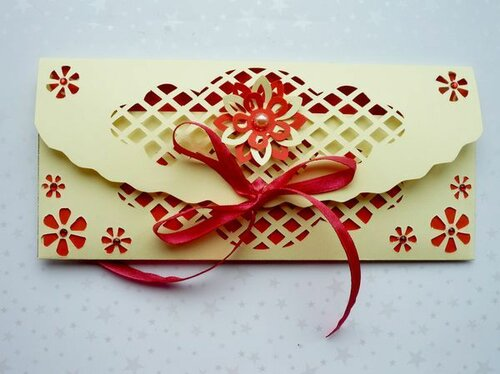 Ажурные конверты для денег. Мастер-класс